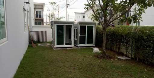 บ้านหมา สำเร็จรูป ตั้งไว้สวนหลังบ้าน